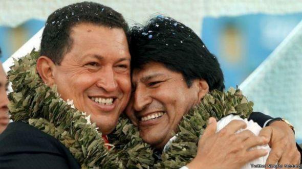 Foto de Morales y Chávez