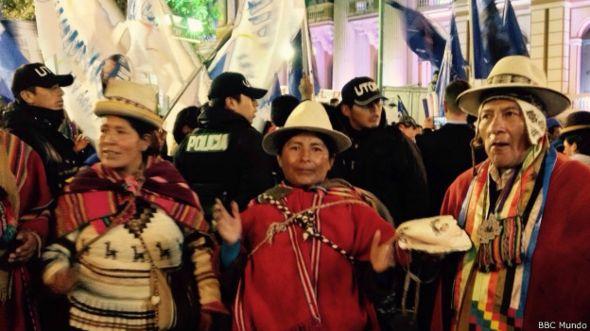 Partidarios Evo Morales