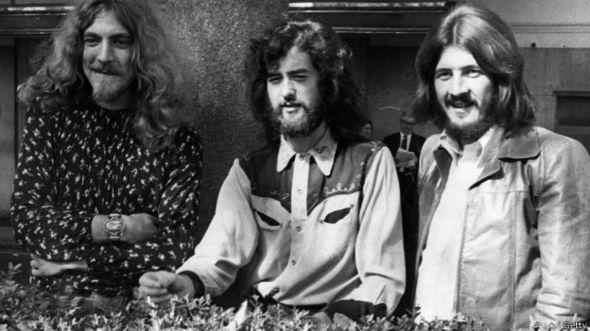 Led Zeppelin, en una foto de 1970