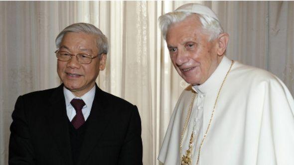 Tổng bí thư Nguyễn Phú Trọng gặp Giáo hoàng Benedict 22/1/2013