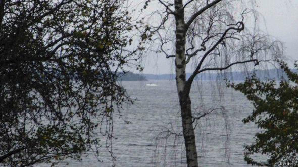 Fotografía de objeto en aguas suecas