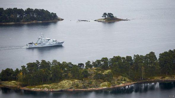 Búsqueda de sumbarino en aguas suecas