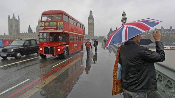 Лондон под дождем