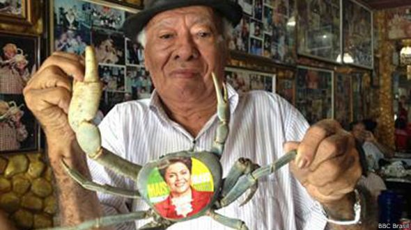 "Caranguejo ""dilmista"" em bar de Goiana"