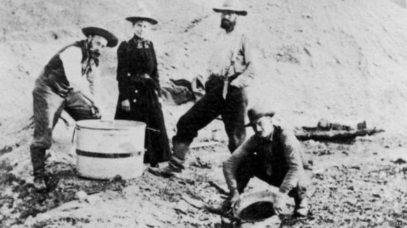 Американские золотоискатели на Аляске (1895 год)
