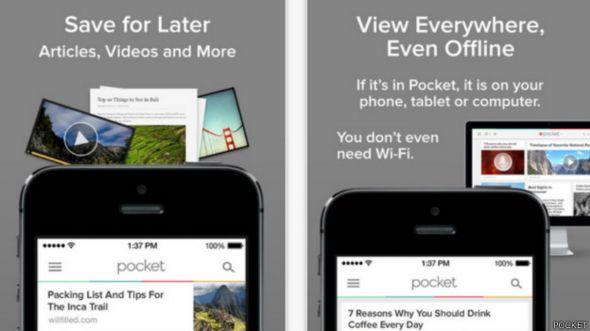 Anuncio de la aplicación Pocket
