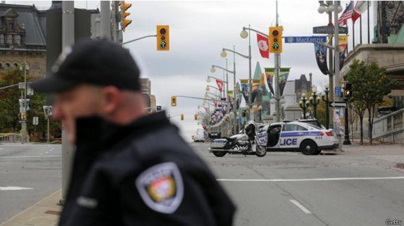 control de policía en Ottawa, Canadá
