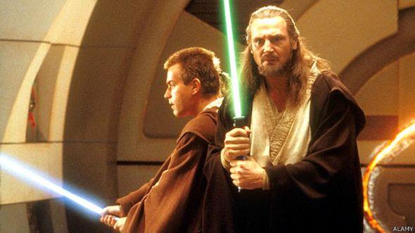 Imagen de un film de Star Wars mostrando a los Jedis