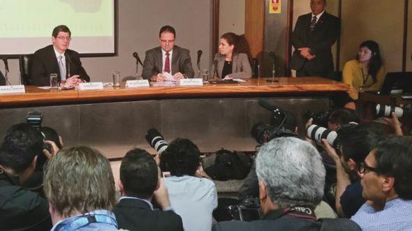 Joaquim Levy e Nelson Barbosa nesta quarta-feira (Ministério do Planejamento)
