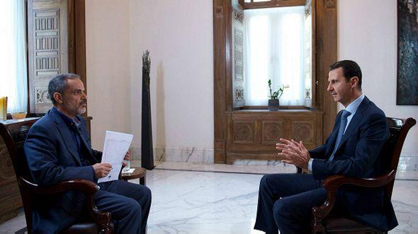 Башар Асад дает интервью иранскому телевидению