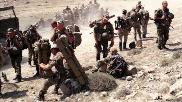 Российские войска в горах Дагестана (август 1999 г.)