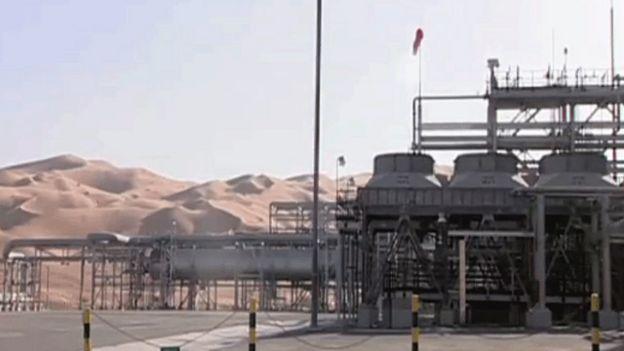 Instalación petrolera en Arabia Saudita