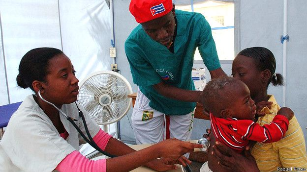 Doctores cubanos en Haití