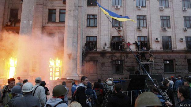 Сутички на Куликовому полі в Одесі 2 травня 2014 року