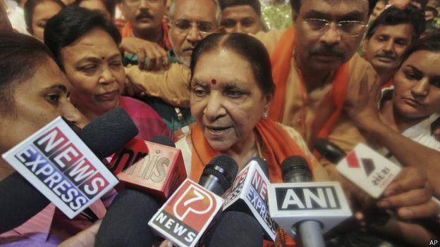 गुजरात की मुख्यमंत्री आनंदी बेन पटेल