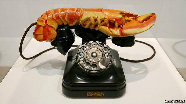 """El """"teléfono langosta"""" de Salvador Dalí: el arte surrealista fue muy influenciado por los escritos de Freud."""