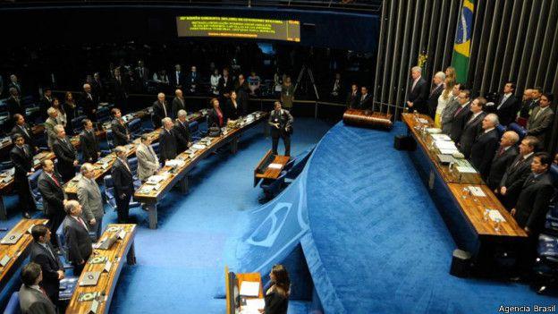 Imagen de una sesión en el Congreso brasileño.