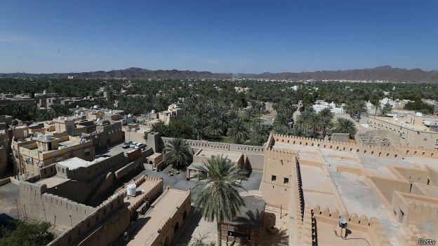Una vista de Nizwa, en Omán