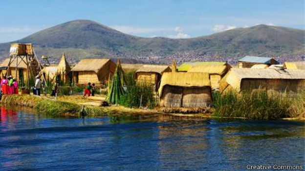 Ilha no Lago Titicaca