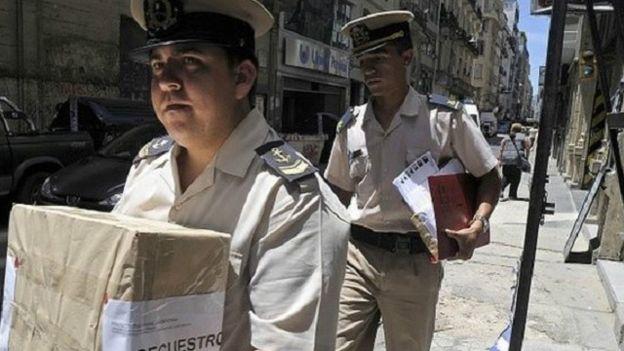 La policia hizo varios allanamientos en la casa de Nisman.