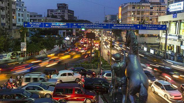 Трафик в Ченнае, Индия