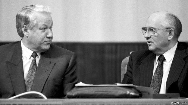 Михаил Горбачев и Борис Ельцин