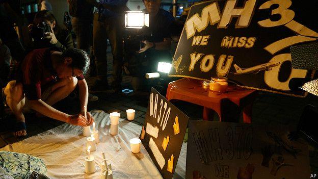 Familiares de los desaparecidos con el vuelo MH370