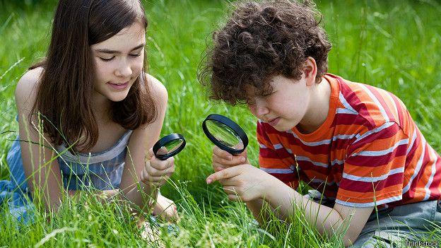 Дети на лужайке