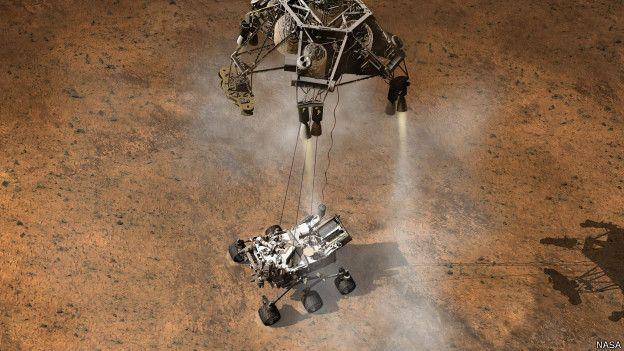 Arte mostra Curiosity rover em Marte | Foto: NASA
