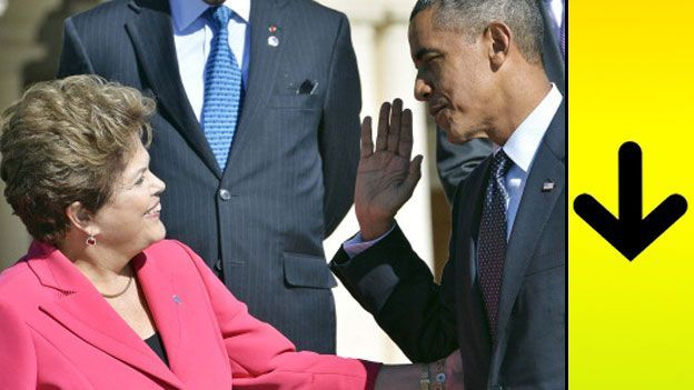 Dilma Rousseff junto a Barack Obama