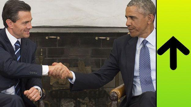 Enrique Peña Nieto junto a Barack Obama