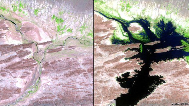 Represa Mirani en Pakistán