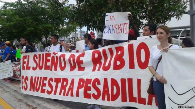 Manifestación en Miami
