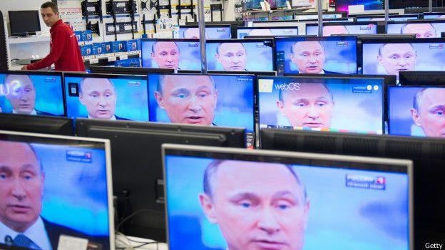 Путин и телевизоры