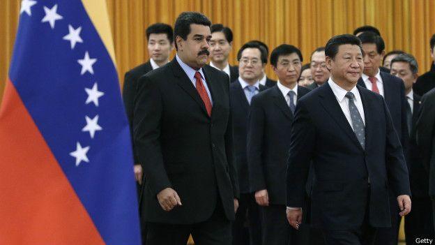 Presidente de venezuela con el Gobierno de China