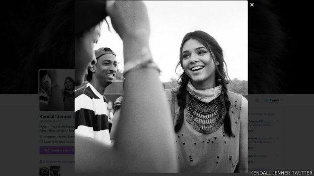 Foto del perfil de Twitter de Kendall Jenner