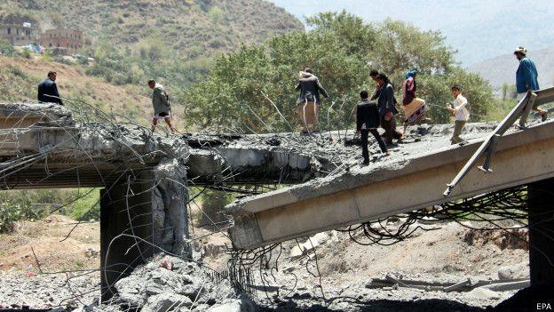 Разбомбленный мост