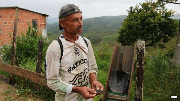 Barequero, minero artesanal