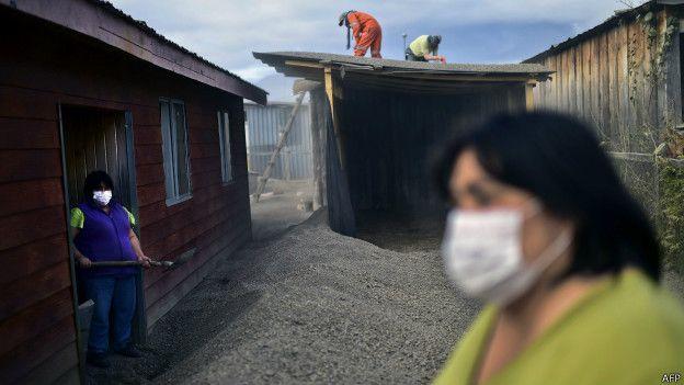 Secuelas de la eruoción del volcán Calbuco
