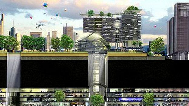 Diseño para la ciudad subterránea de la Ciencia en Singapur. (Foto de JTC Corporation)