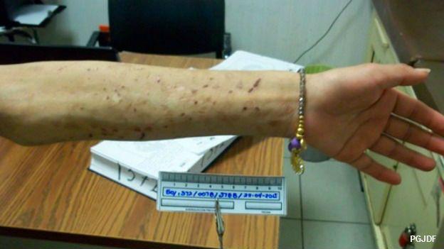 Imagen de la chica esclavizada en una tintorería de Ciudad de México