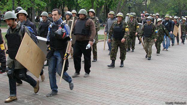 """""""Самооборона"""" организовано пришла на марш после сообщений об опасности"""