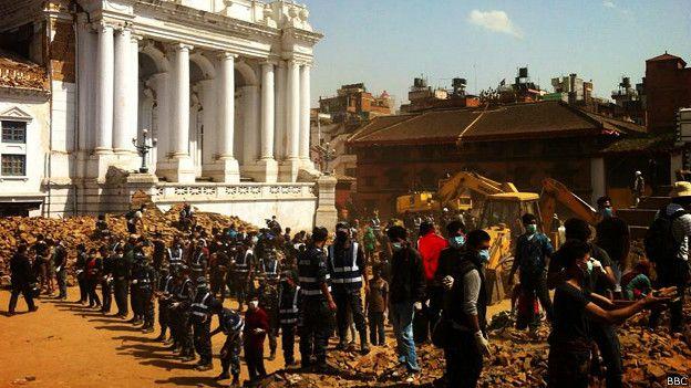 Katmandú, Nepal, luego del terremoto