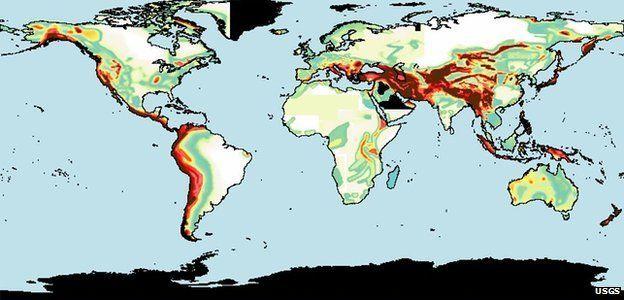 Mapa de fallas geológicas