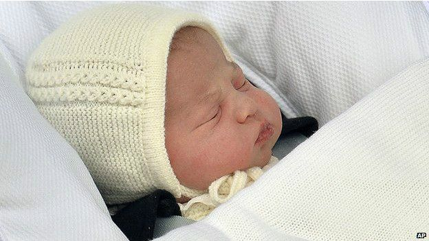 Новорожденная дочь герцога и герцогини Кембриджских