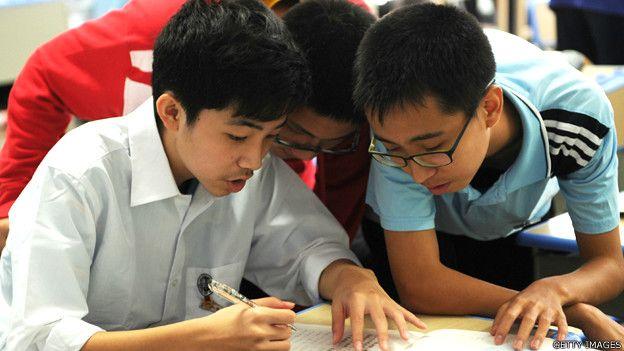 Estudiantes en Shanghai