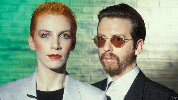 Eurythmics, dúo británico de los años 80 formado por Annie Lennox y David A. Stewart