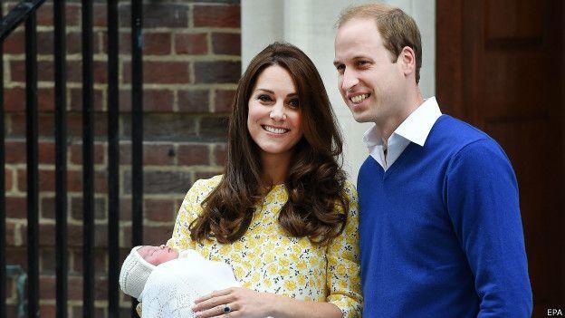 Presentación de la princesa Charlotte, hija de William y Kate