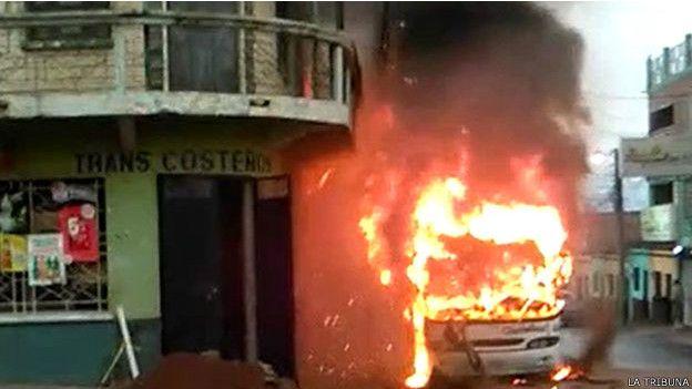 Un autobús interurbano fue quemado el pasado 28 de abril en Comayagüela.