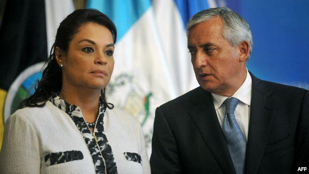 Roxana Baldetti y el presidente Otto Pérez Molina